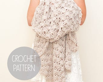 crochet pattern - lace stitch throw blanket - the Summer Bliss Throw Blanket