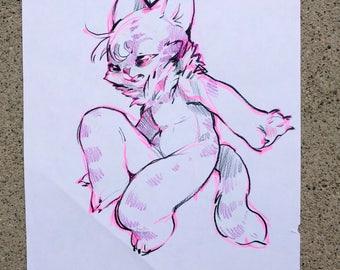original art - anthro cat