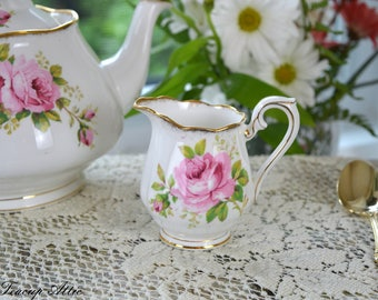 Royal Albert American Beauty Small Creamer, English Bone China Replacment Creamer Only, ca. 1941-1977