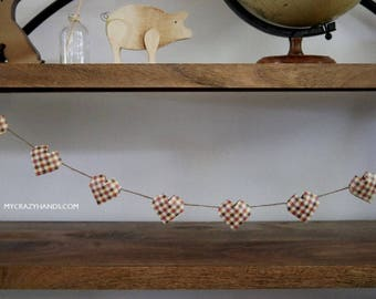 origami 3D heart garland || heart banner | heart bunting || | Thanksgiving party garland | fall party decor  -DIY: you space the hearts