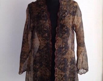 Sale Priudi Pret a Porter Batik Silk Blouse