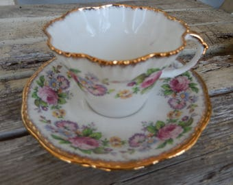 Salisburg Cup & Saucer - English Fine China - English Cup and Saucer - Display China - Salisburg Crown China - Tea Party China
