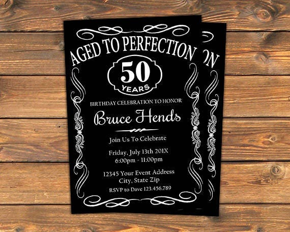 Aged to perfection birthday party invitation printable like this item stopboris Image collections