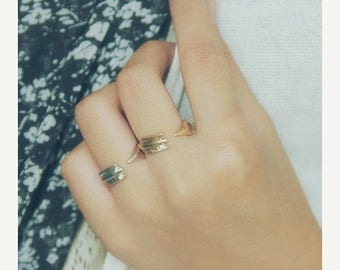 ON SALE Open arrow ring - stacking ring