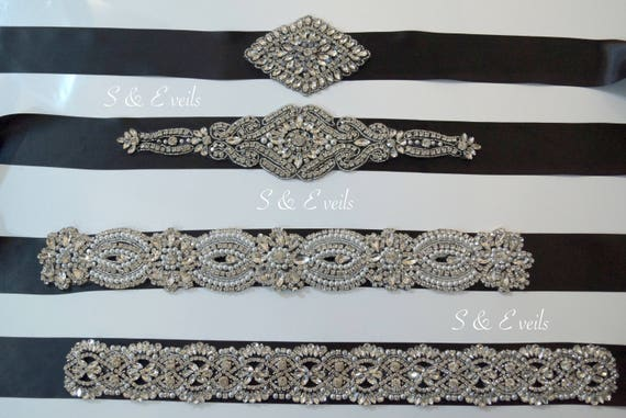 Black Crystal Bridal Sash Belt | Black Rhinestone Bridal Belt, Crystal Bridal Belt, Trending Black Bridal Sash, Brides Maid Sash, prom belt