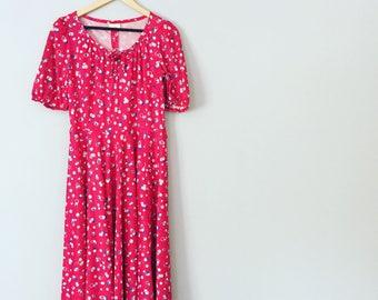 Vintage Red Summer Dress