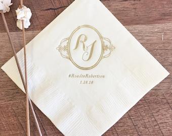 Ornate Monogram Napkins