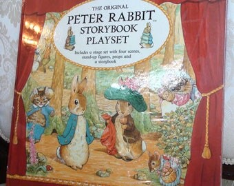 Beatrix Potter Peter Rabbit Storybook Playset Paper Dolls