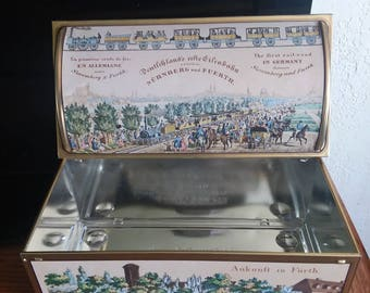 Vintage E. OTTO SCHMIDT railroad tin-Made in Germany