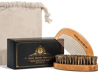 Boar Bristle Beard Brush Beard Comb Trim Scissors Gift for Men Gifts for him Beard Kit Beard Gift Beard Oil Beard Accessories Boyfriend Gift