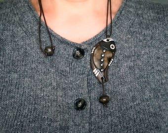 Unique necklace,Ceramic necklace,Unique jewelry,Ceramic pendant,Pretty gift,Handmade summer necklace,Cute necklace,Ceramic jewelry