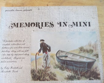 """Priscilla Hauser Presents 1975 Decorative book """"Memories in Mini """" by Judy Kimball and Annabelle Lueck 72 pages used book"""