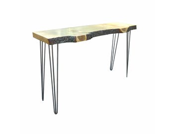 Slab Wood Sofa Entry Table