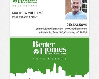 Better Homes and Gardens real estate DELUXE business cards - thick, color both sides - FREE UPS ground shipping