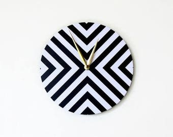 Mod  Wall Clock. Trending Decor, Black and White Clock, Decor and Housewares, Home Decor, Home and Living