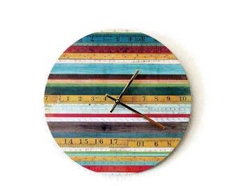 Unique Wall Clock, Rainbow Wall Clock, Home Decor, Quartz Clock,  Decor and Housewares, Home and Living, Clock