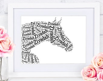 Custom Arabian Horse Wall Art Horse Gifts Personalized With Your Pets Name Horse Silhouette Horse Memorial Pet Loss Gifts for Equestrians