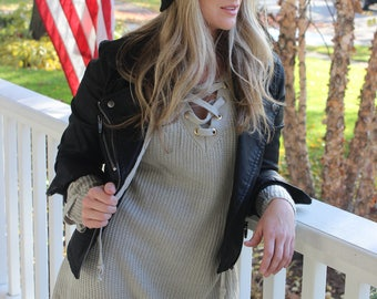 Lace It Up Sweater