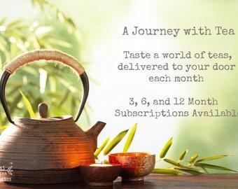 Tea Subscription Box, Organic Tea Gift Box, Free Shipping, Tea of the Month, Tea Gift Set, Gift for Him o r Her, Tea Lover Gift
