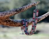 Antique Rose Flat Daydreamer Bracelet (Pattern by Jill Wiseman)