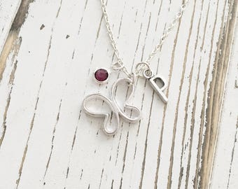 Personalized Minimalist Butterfly Necklace