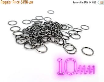 80 PCS - 10MM Jump Ring Jewelry Finding Black Gunmetal Connector C1595