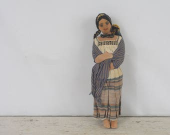 Vintage Cloth Doll Latin South American Spanish Spain Folk Art Doll Southwest Doll