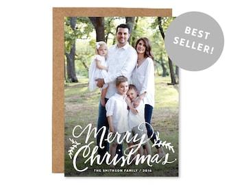 Printable Christmas Card with Photo - Simple Christmas