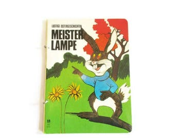 "German Vintage Childrens Book "" Meister Lampe Lustige Ostergeschichten""in GERMAN / Book for Easter"