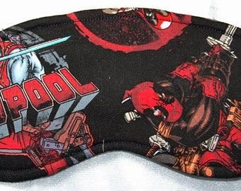 Deadpool cotton print sleep mask
