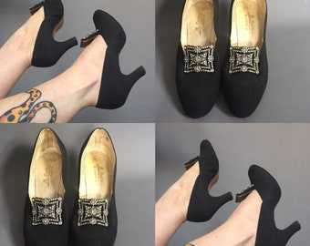 1920s evening shoes with paste buckle