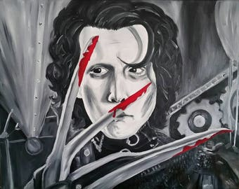 16x20 Edward Scissorhands oil painting