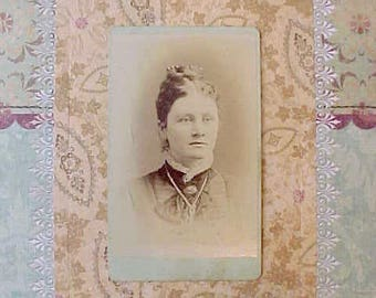 Lovely Victorian Era Sepia Photograph of Young Woman From Kenosha