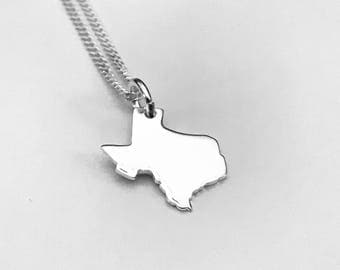 Texas map necklace etsy texas necklace lone star necklace texas pendant sterling silver pendant sterling silver mozeypictures Choice Image