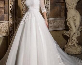 Detachable Top Ball Gown Wedding Bridal Dress