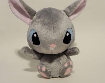 Bunny Plush Gray stuffed animal cute kawaii Thumper