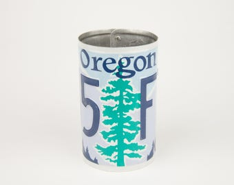 Oregon License Plate Pencil Holder - Teacher Gift - Father's Day gift - Graduation Gifts - Gift for Dads and Grads - Oregon  souvenir