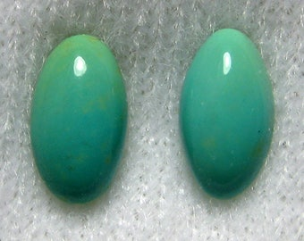 Dyer Blue Mine Natural Turquoise Cabochons from Nevada, 9x5mm