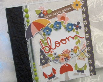 Gnomes Handmade Mini Scrapbook Album Premade Simple Stories