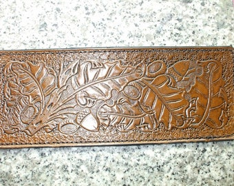 personalized oak leaves wallet / billfold ( I ship the same day as you order ) (166)