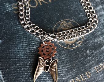 Steampunk Jewelry, Steampunk Bracelet, Shadowhunter Jewelry, Angel Wings Jewelry, Shadowhunter Bracelet, Mortal Instruments Jewelry, Gothic
