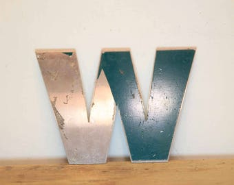 Vintage Letter W,  Alphabet, W, Wall Art