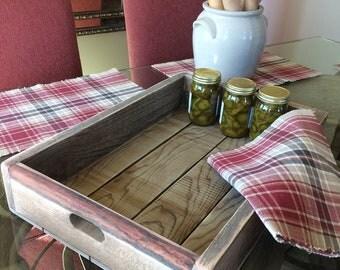 Serving Tray Natural Wood