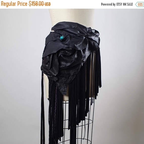 ON SALE Festival Clothing - Burning Man Clothing - Gypsy Wrap Skirt - Burning Man - Fringe - Festival Wear
