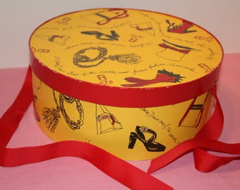 Fred Hayman's Hatbox Two Seven Three Beverly Hills Rodeo Drive Vintage Hat Box