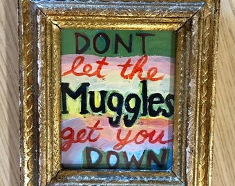 Harry Potter quote painting