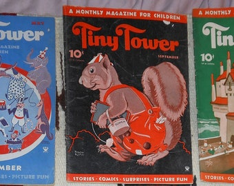 four vintage magazines ca.1930 s tiny tower full color