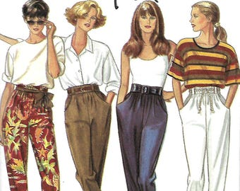 New Look 6080 Misses Pants Pattern, Tapered And Cropped, 8-18, UNCUT