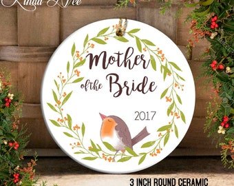 Mother of the Bride Ornament, Wedding Christmas Ornament Wedding Gift to Mom Mother of the Bride Gift Mother in Law Gift Personalized OPH106