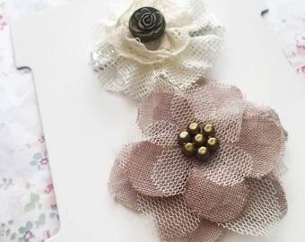Lovely Tichel Flower Clips